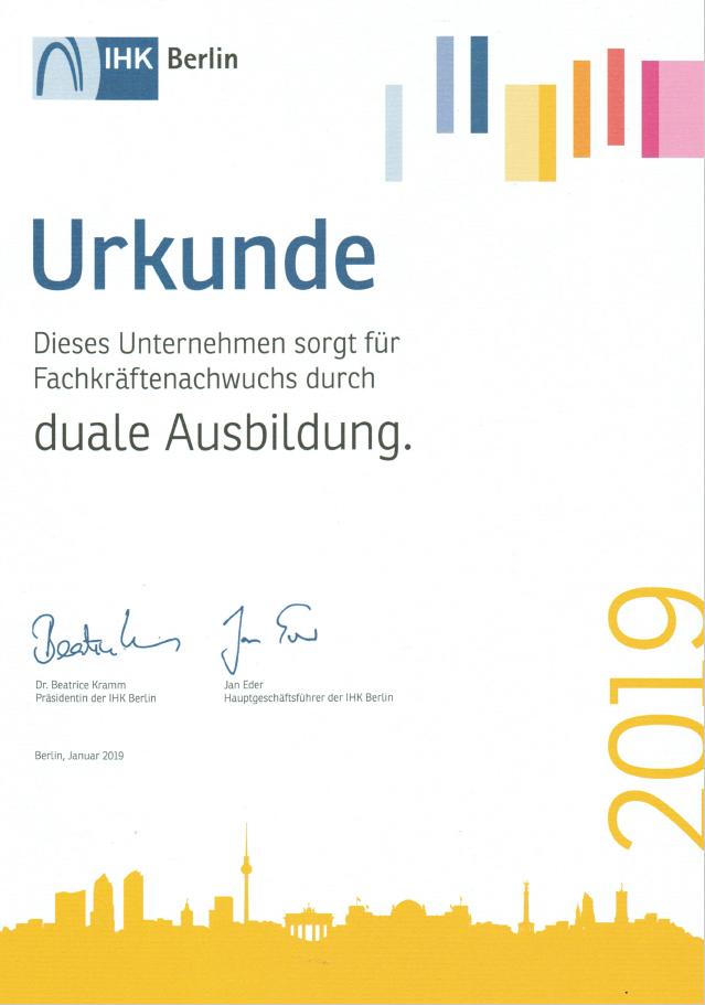 Duale Ausbildung Berlin